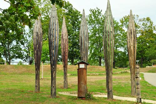 Bad Rappenau Kurpark Salinenpark Biene Wildbiene Wildbienen-Hochhäuser Kunstwerke Drossel Drosseln Foto Brigitte Stolle August September 2015