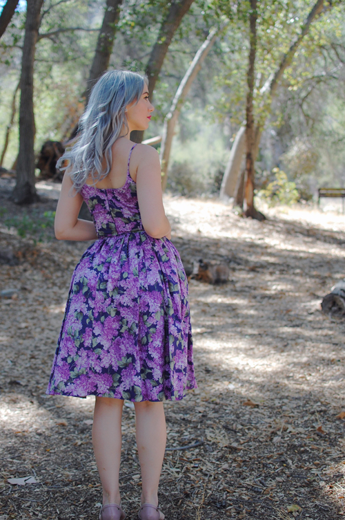 Bernie Dexter Chelsea dress in Navy Lilac print