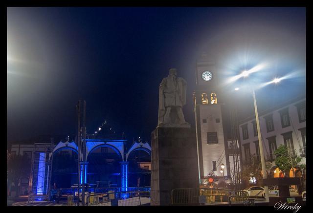 Paseo nocturno por Ponta Delgada - Plaza Gonçalo Velho Cabral