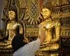 Pasting thin golden leaf to honour Buddha teachings by B℮n