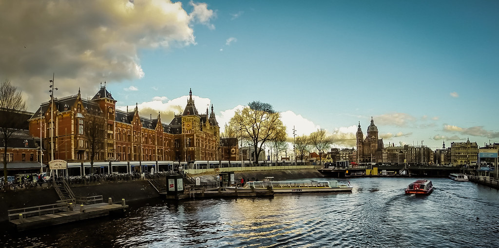 Amsterdam Centraal in golden light