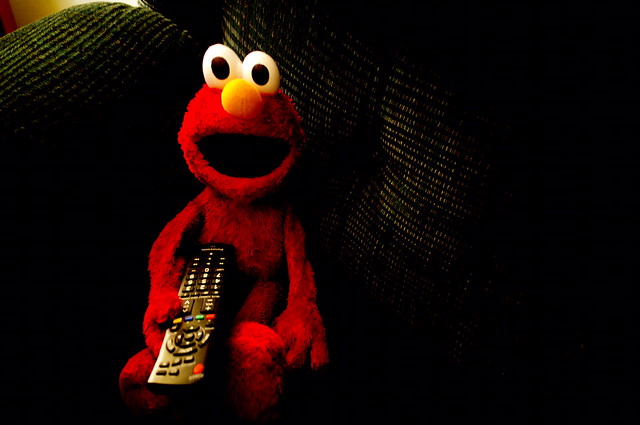 Elmo watches Pink Floyd's 'The Wall'