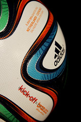 BRAZUCA OFFICIAL FIFA WORLD CUP BRAZIL 2014 ADIDAS QUARTER FINAL MATCH USED KICK OFF BALL, NETHERLANDS VS COSTA RICA, SALVADOR 13
