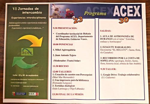 VI Jornadas de Intercambio ACEX 2015