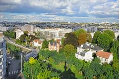 La vue sur le sud de Paris depuis le château d'eau de la villa Hennebique (Bourg-le-Reine)