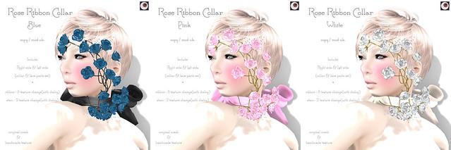 *NAMINOKE*ROSE RIBBON COLLAR