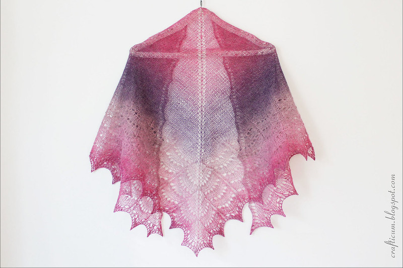 Pink purple Holden shawl