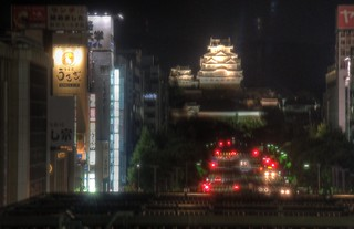 Arrival at Himeji Station in night on OCT 28, 2015 (5)