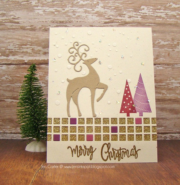 Jen Carter Merry Christmas Deer