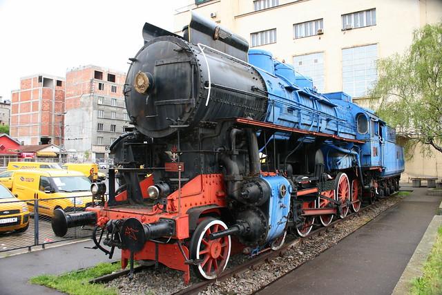 Tito's blue train in Belgrade.