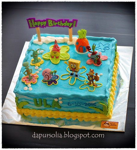 Ula 5th Birthday Party Cake (Spongebob and Friends)