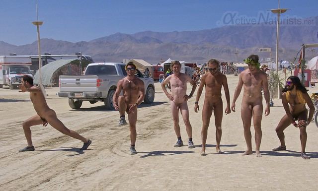 naturist gymnasium 0006 Burning Man 2015, Black Rock City, Nevada, USA