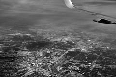 An Interchange of Highways and Tall Buildings (Black & White)