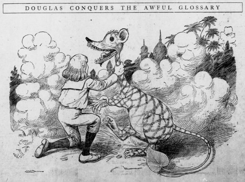 Walt McDougall - The Salt Lake herald., April 05, 1903, Douglas Conquers The Awful Glossary