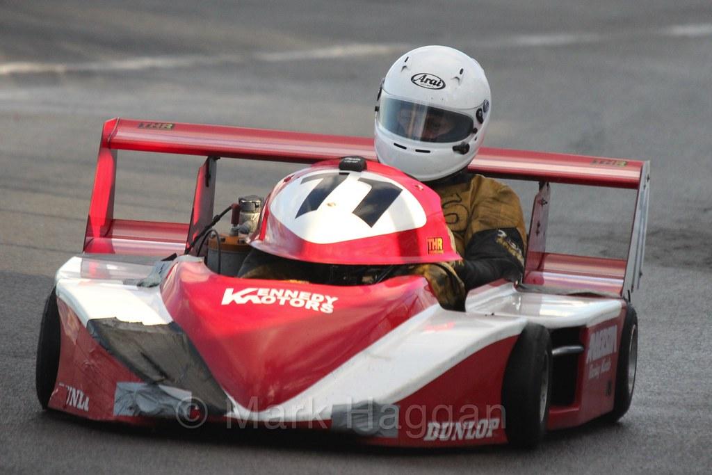 Superkart racing during the BRSCC Winter Raceday, Donington, 7th November 2015