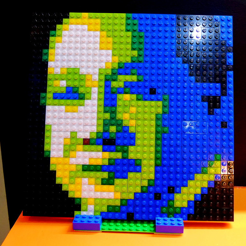 Sundae Scoops Defining Quirino at Ayala Museum Lego Portrait by mis_ter_e