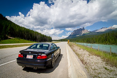 E46 M3 in Banff National Park