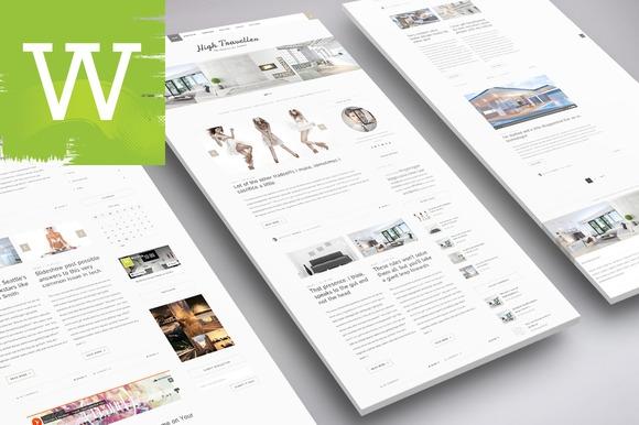 Creativemarket Clean WordPress Blog Theme v1.0