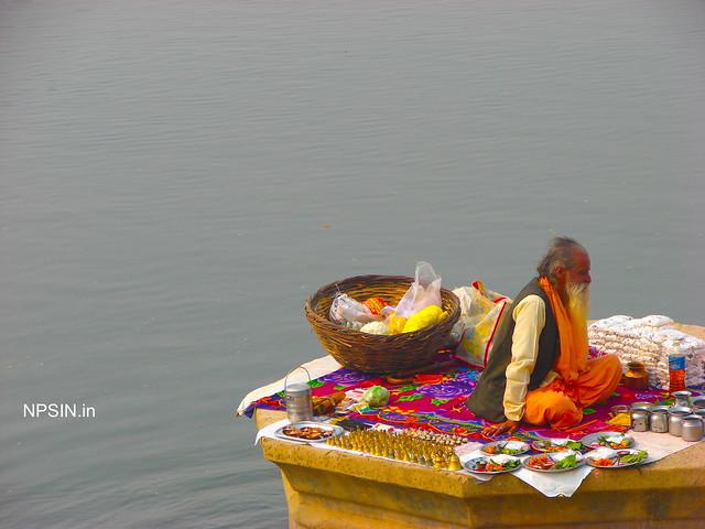 Preparing for Maa Yamuna Puja