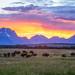 Sunset at Grand Teton