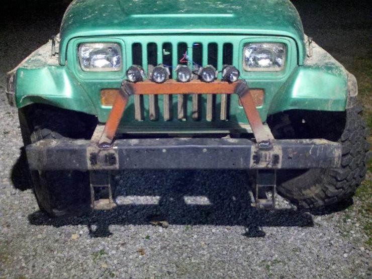 Jeep DIY light bar mod