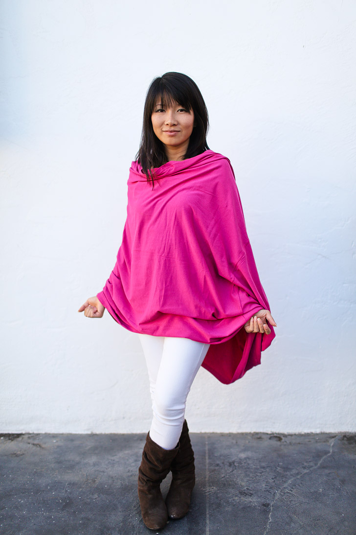 A Versatile Travel Scarf + Dress + Cardigan that can be worn 8+ Ways - The Cape Style - *Encircled Chrysalis Cardi Review*