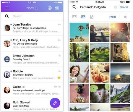 Giao diện mới trên ứng dụng Yahoo Mail rõ ràng và dễ sử dụng hơn