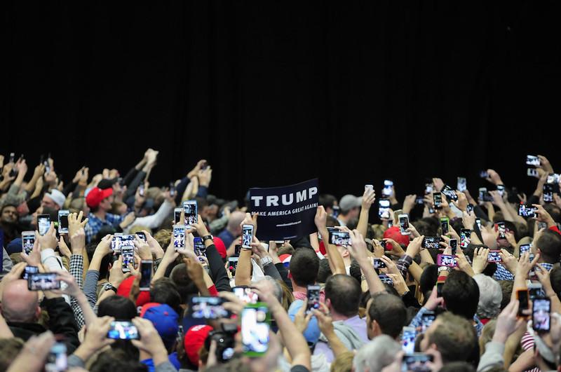 Donald Trump arriving