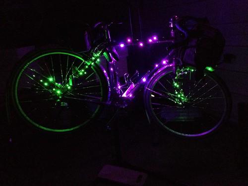 Festive lighting installed