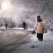the snowy road by iwona_podlasinska