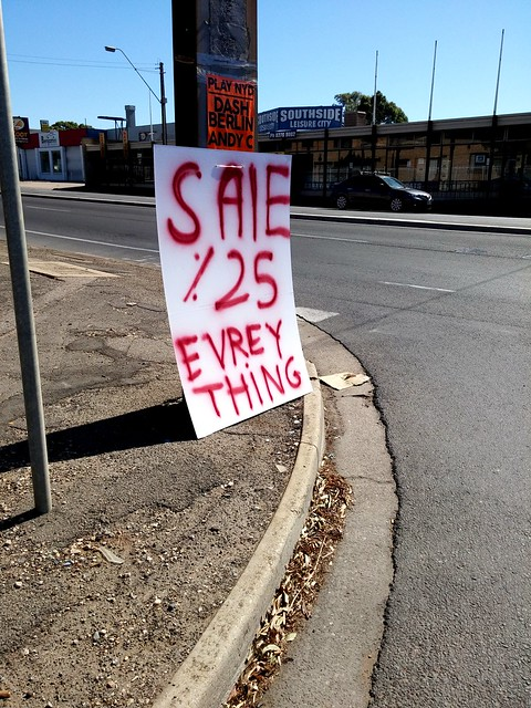 Sale. It's all backwards.