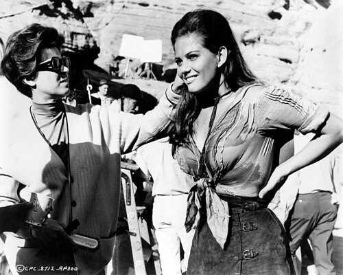 The Professionals - backstage 3 - Claudia Cardinale