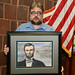 Fri, 10/14/2016 - 12:29 - Derek Maxfield holding a portrait of President Lincoln that was drawn by Michael Garrett as a personal gift to honor Derek's many efforts to commemorate the 150th Year Commemoration of the Civil War.