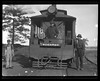 Unidentified persons with the No. 97a Kogarah Steam Tram; unidentified location, [n.d.]