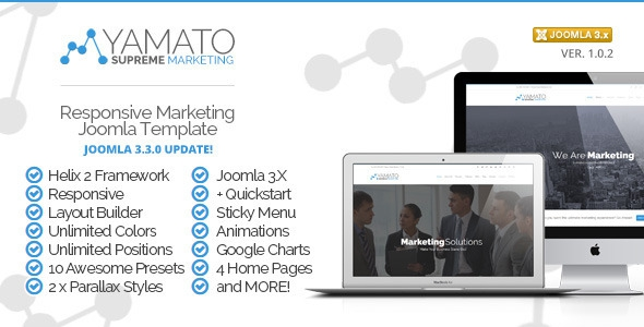 Yamato v1.0 - Responsive Marketing Joomla Template