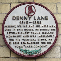 Photo of Denny Lane white plaque