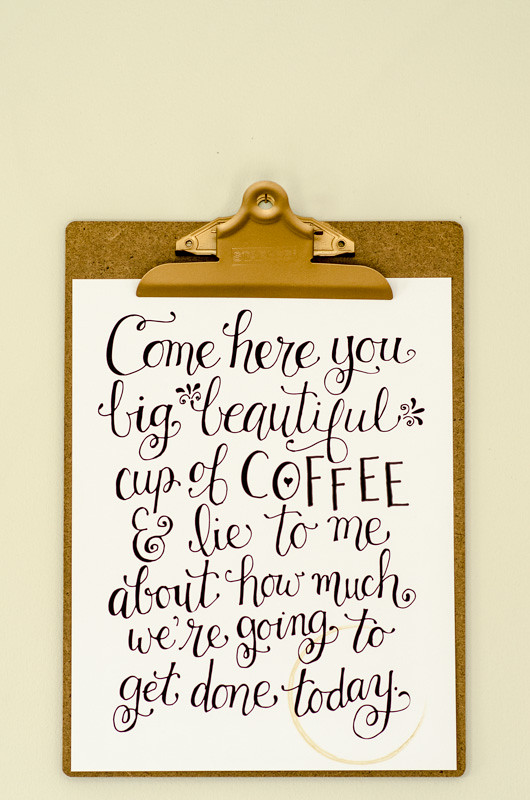 Coffee Station Art from a Free Printable