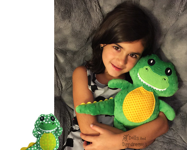Crocodile ITH Stuffie Pattern In The Hoop DIY embroidery machine Alligator