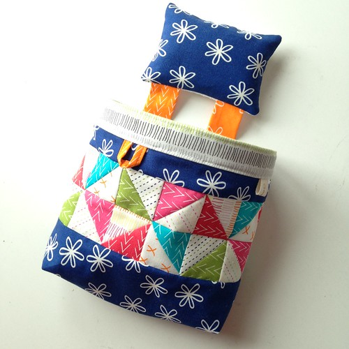 Big mouthed thread catcher from Make It, Take It with extra pinwheel piecing!