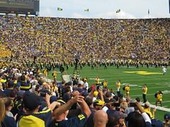 Michigan Marching Band, Michigan Stadium, University of Michigan, Ann Arbor, Michigan