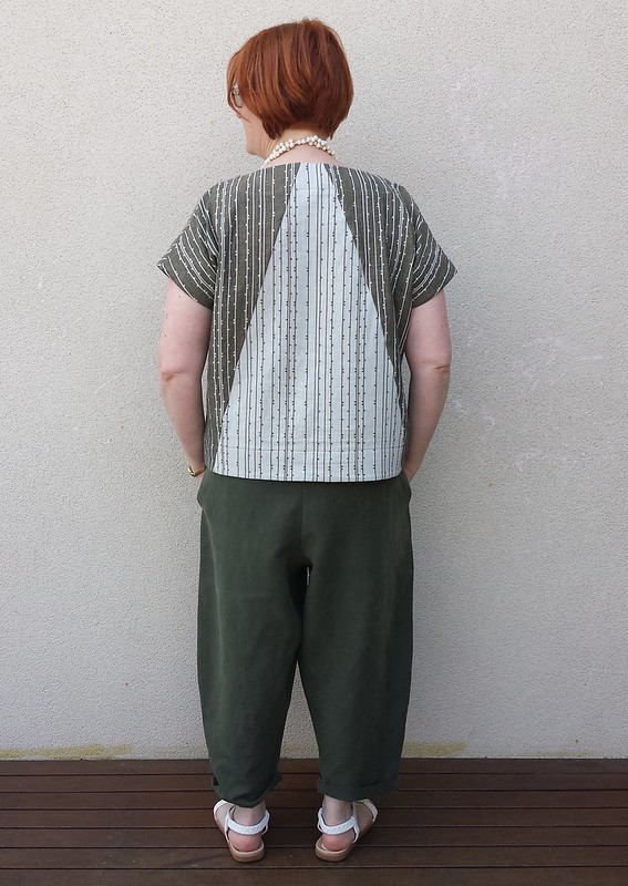 Style Arc Ethel top in Thai cotton double gauze and Ethel pants in linen viscose blend