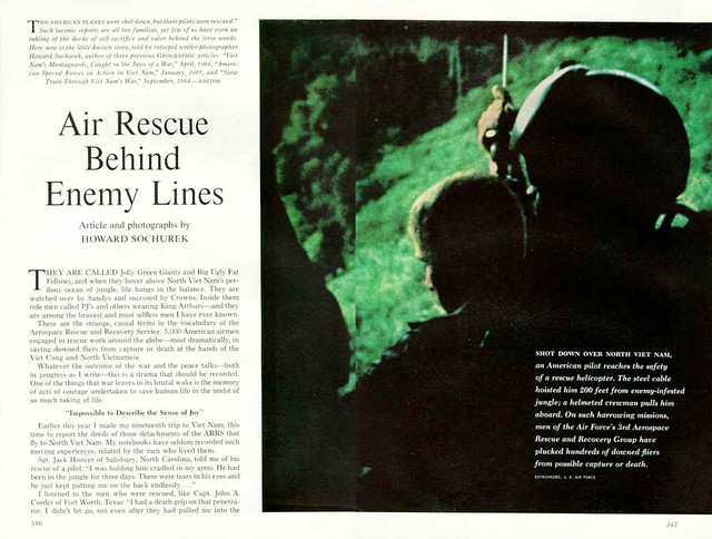 NATIONAL GEOGRAPHIC 1968-09 (1) - Air Rescue Behind Enemy Lines