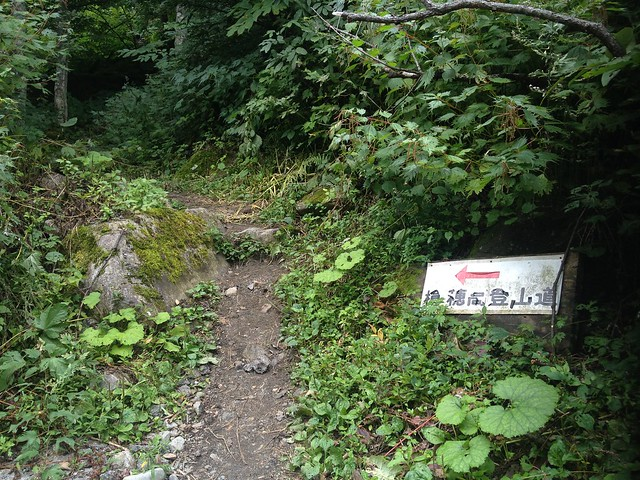 槍ヶ岳 新穂高(右俣谷)~飛騨沢ルート 右俣林道ショートカット入口