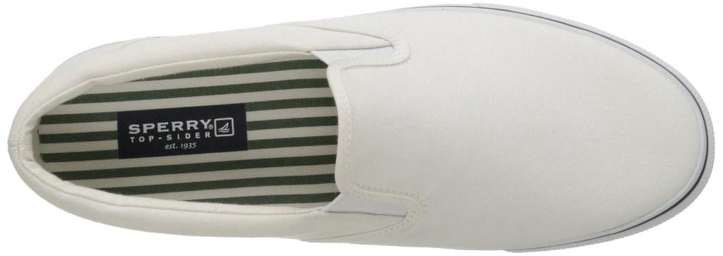57181334ca Sperry Men s Striper White Casual Slip On Boat Shoe - Clothing ...