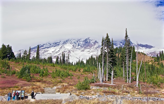 Mount Rainier parking spot at the top
