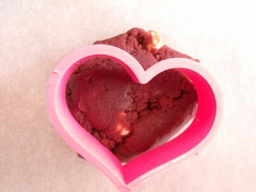 Red Velvet White Chocolate Cream Cheese Heart Cookies