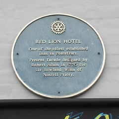 Photo of Rowland Winn, Red Lion Hotel, Pontefract, and Robert Adam blue plaque