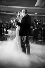 Bride and Groom First Dance B&W
