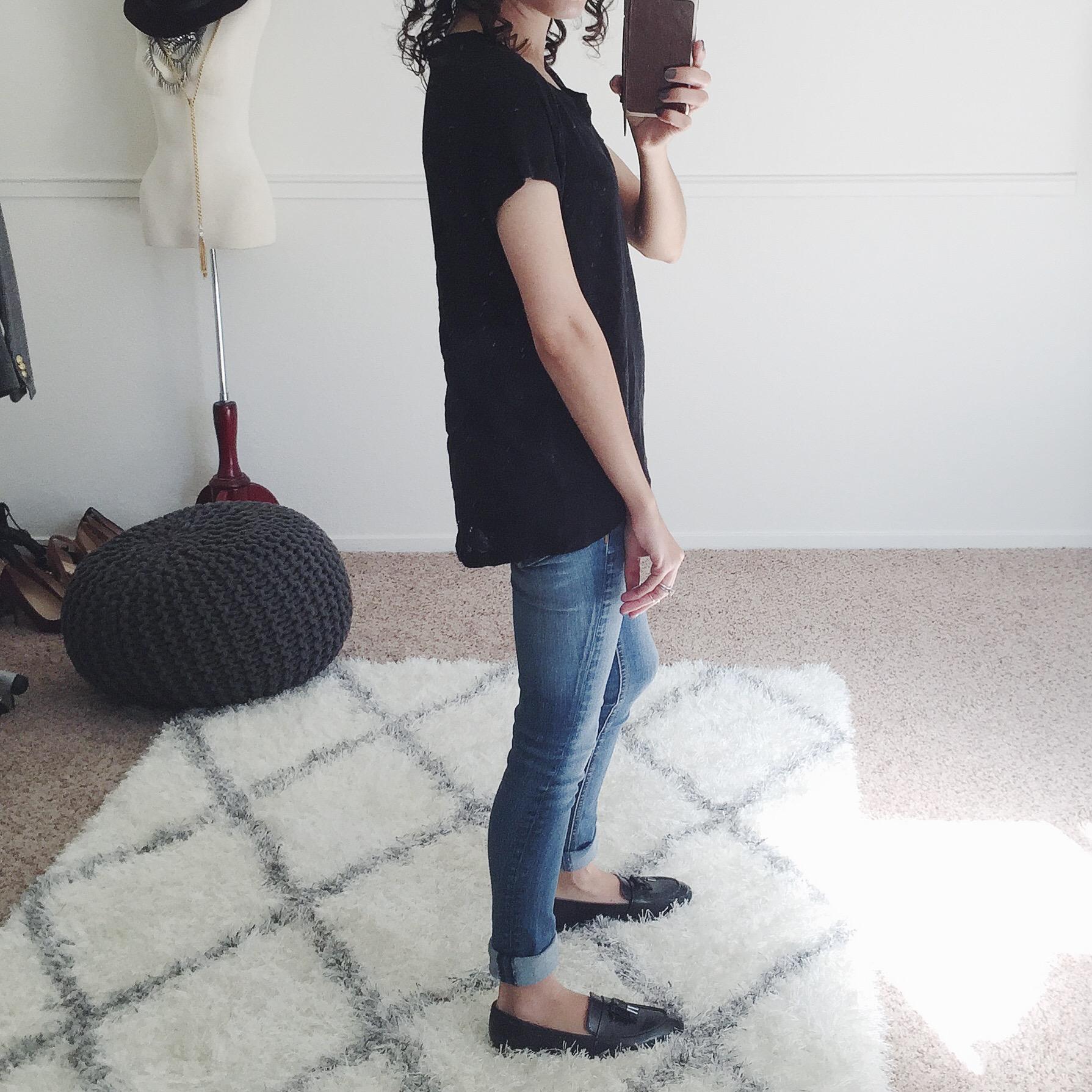 gap linen tee shirt review