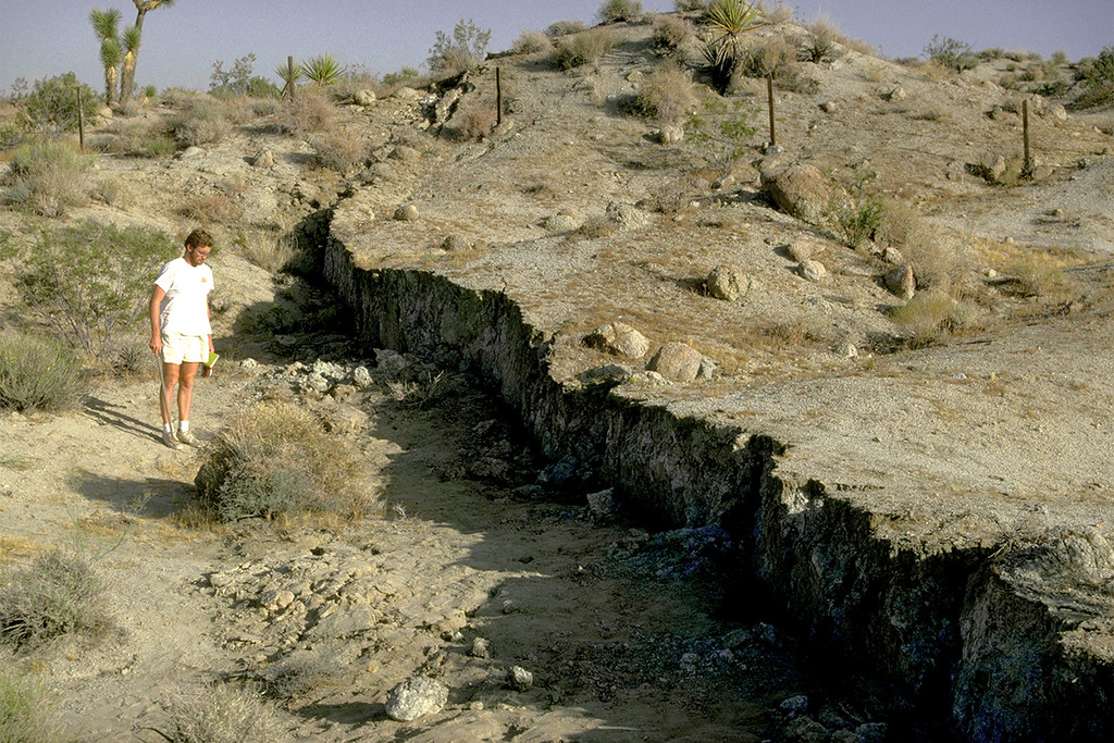Surface faulting associated with the 1992 Landers earthquake, Landers, California
